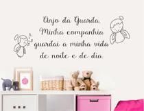 Adesivo De Parede Oração Anjinho Anjo Quarto De Bebê - Senhorita Decor