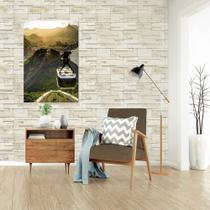 Adesivo De Parede Pedras Claras 310x58cm - Papeldeparededigital