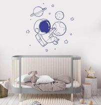 Adesivo De Parede Quarto Infantil Astronauta Galaxia - Senhorita Decor