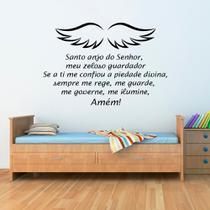 Adesivo de Parede Religioso Oração Santo Anjo Infantil - Kanto Store