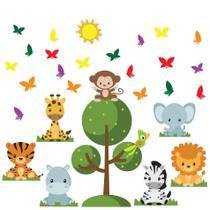 Adesivo de Parede Safari Baby para Quarto Infantil - Quartinhos