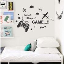 Adesivo de parede vídeo game controle meninos jogador - Senhorita Decor