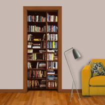 Adesivo de porta - estante de livros 1 - Dekalque Adesivos