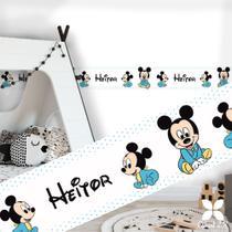 Adesivo decoração quarto do bebê personalizado faixa border Mickey baby - Criart2k