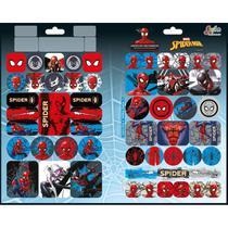 Adesivo decorado duplo metalizado spider-man - Tilibra