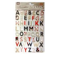 Adesivo Decorativo Artesanal Alfabeto EVA Puff - Mania De Sticker
