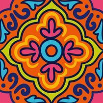 Adesivo Decorativo Azulejo 8 pc 15x15cm Estampado - Evolux