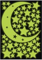 Adesivo Decorativo Brilha No Escuro - Estrelas - Lua - Micro Oficina