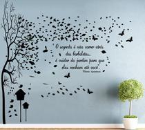 Adesivo Decorativo de Parede com Árvore grande com frase Sala Quarto Cozinha - Gaudesivos
