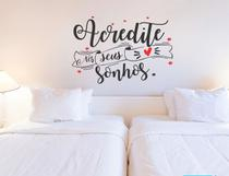 Adesivo Decorativo De Parede Frase Acredite Nos Sonhos Sala - Gaudesivos