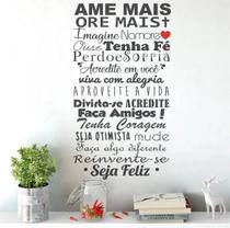 Adesivo Decorativo De Parede Frase Ame Mais Ore Mais Amigos - Papeldepare.De