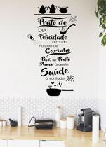 Adesivo Decorativo de Parede Frase  prato do dia Pra Cozinha - Gaudesivos