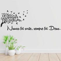 Adesivo Decorativo De Parede Quarto Sala Frase Arvore Deus - Wit Print