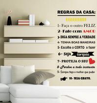 Adesivo decorativo de Parede Regra da casa lindo para decorar sua casa - Gaudesivos