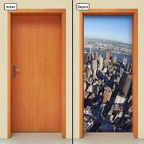Adesivo Decorativo de Porta - Cidade - 824cnpt - Allodi