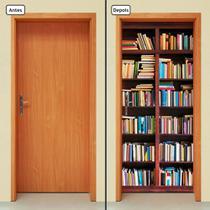 Adesivo Decorativo de Porta - Estante de Livros - 546cnpt - Allodi