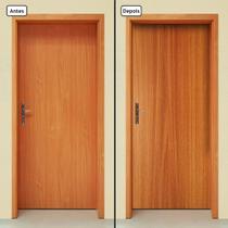 Adesivo Decorativo de Porta - Madeira - 877cnpt - Allodi