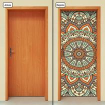 Adesivo Decorativo de Porta - Mandala - 294cnpt - Allodi