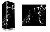 Adesivo decorativo geladeira completa   (03 peças 80x190) floral - Atitude Signs