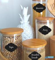 Adesivo Decorativo Kit 30 Etiquetas Para Potes de Arroz Cafe - Gaudesivos