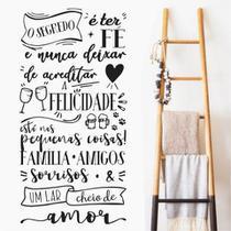 Adesivo Decorativo Parede Frase O Segredo é Ter Fé - Adoro Decor