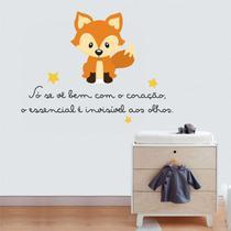 Adesivo Decorativo Parede Frase Pequeno Príncipe Raposa Infantil - Adoro Decor