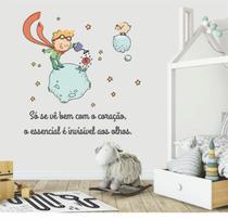 Adesivo Decorativo Parede Quarto Infantil Frase Pequeno Príncipe Lua - Adoro Decor