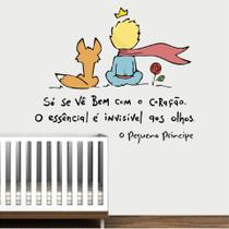Adesivo Decorativo Parede Quarto Infantil Frase Pequeno Príncipe Raposa - Adoro Decor