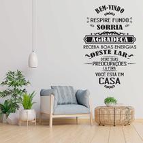 Adesivo Decorativo parede sala frase Bem vindo agradeca casa - Wit Print