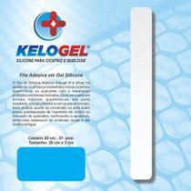 Adesivo em gel de silicone para cicatriz 3x20cm kelogel -