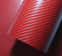 Adesivo Envelopamento Carbono Carro Moto Vermelho 4d 2mx50cm -