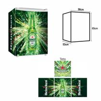 Adesivo Envelopamento De Frigobar HK067Heineken Md65 - Geladeiramania