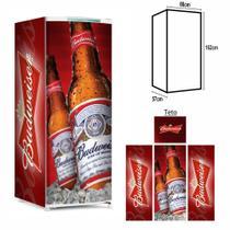 Adesivo Envelopamento Geladeira BD006 Budweiser M162 - Geladeiramania