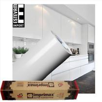 Adesivo Envelopar Armario Cozinha 50cm X 5m - branco - Imprimax