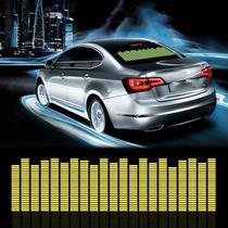 Adesivo Equalizador 12v 45x11cm Painel Led Carro Amarelo - Techbrasil