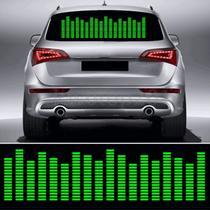 Adesivo Equalizador 12v 45x11cm Painel Led Carro Verde - Techbrasil