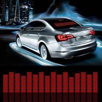 Adesivo Equalizador 12v 45x11cm Painel Led Carro Vermelho - Techbrasil