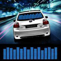 Adesivo Equalizador 12v 70x16cm Painel Led Carro Azul - Techbrasil