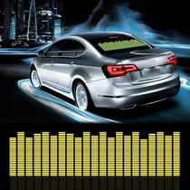 Adesivo Equalizador 12v 90x10cm Painel Led Carro Amarelo - Techbrasil