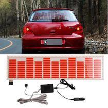 Adesivo Equalizador 12v 90x10cm Painel Led Carro Vermelho - Techbrasil