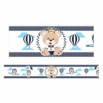 Adesivo faixa de parede ursinho príncipe fdup-02 - Faixas Decorativas