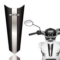 Adesivo Faixa Gravata Tanque Moto Cg 125/150/160  Titan Fan Start Carbono Prata - Cobra Motoparts