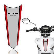Adesivo Faixa Gravata Tanque Moto Cg 125/150/160  Titan Fan Start Cinza Vermelha - Cobra Motoparts
