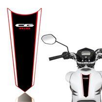 Adesivo Faixa Gravata Tanque Moto Cg 125/150/160  Titan Fan Start Preto Branco - Cobra Motoparts