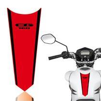Adesivo Faixa Gravata Tanque Moto Cg 125/150/160  Titan Fan Start Preto Vermelho - Cobra Motoparts