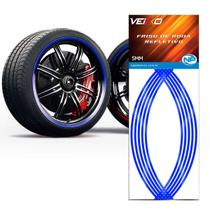 Adesivo Friso Fita Refletivo Roda Para Carro 5MM Azul - NP