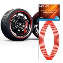 Adesivo Friso Fita Refletivo Roda Para Carro 5MM Vermelha - NP