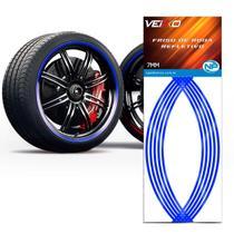 Adesivo Friso Fita Refletivo Roda Para Carro 7MM Azul - NP