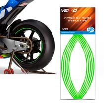 Adesivo Friso Fita Refletivo Roda Para Moto 5MM Verde - Np
