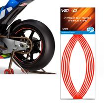 Adesivo Friso Fita Refletivo Roda Para Moto 5MM Vermelha - NP